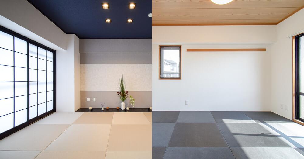 琉球畳でリビングリフォーム