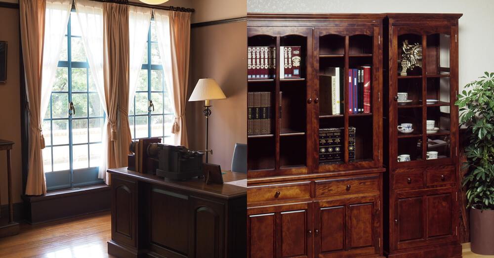 中古住宅リフォームでレトロ書斎をつくるイメージ