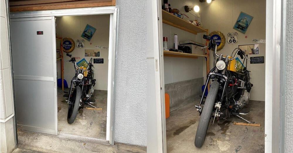 和室をガレージにリフォーム