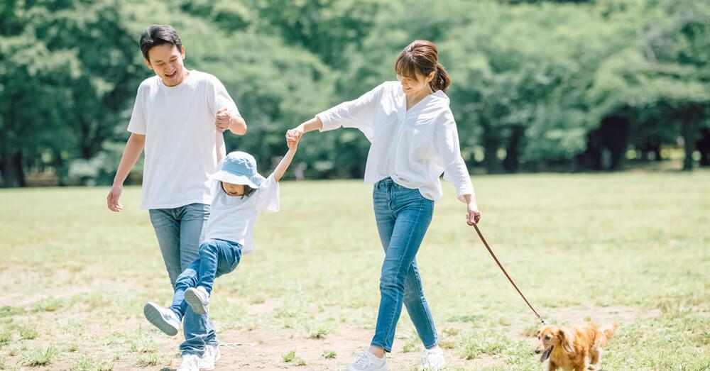 愛犬と暮らす家族