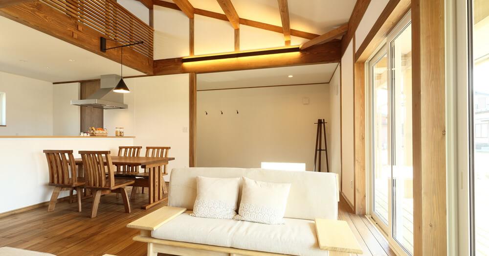 自然素材を使った高級注文住宅のイメージ