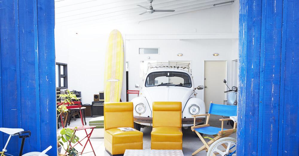 アウトドアリビングや趣味の部屋にも使えるガレージハウスへのリフォーム